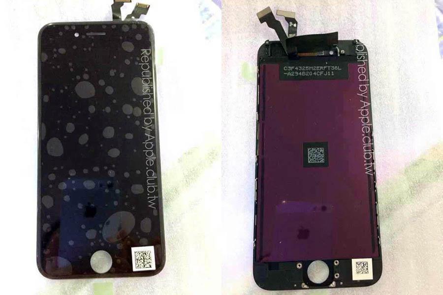 iPhone 6 voorkant zwart